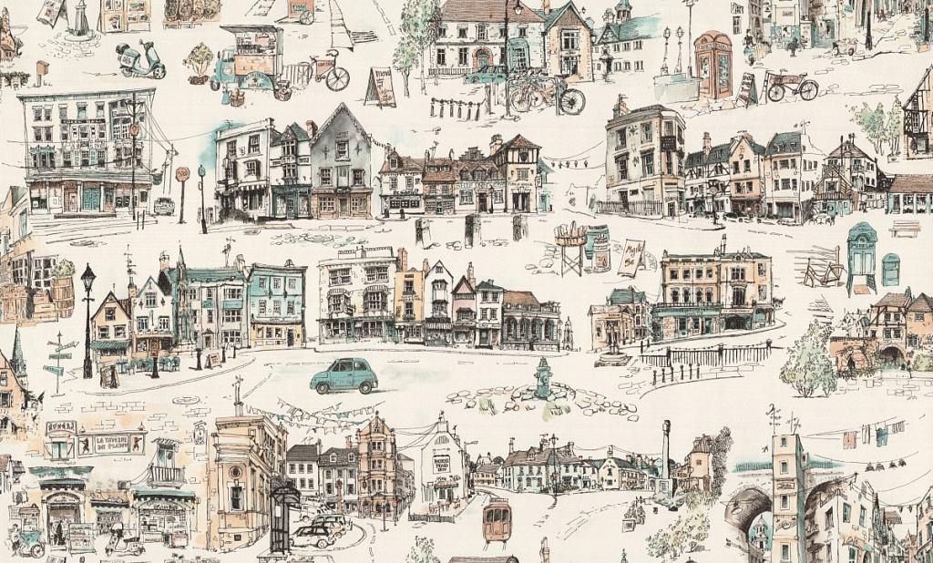 сперва обои с рисунком города для стен славится своим