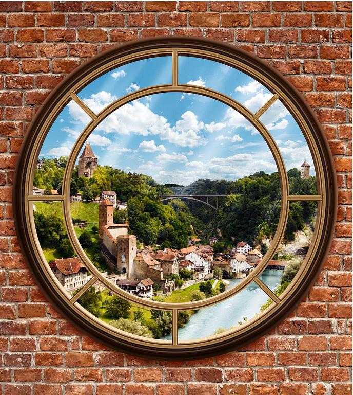 вариант фото постеры окна с природой для стен каталог одной стороны